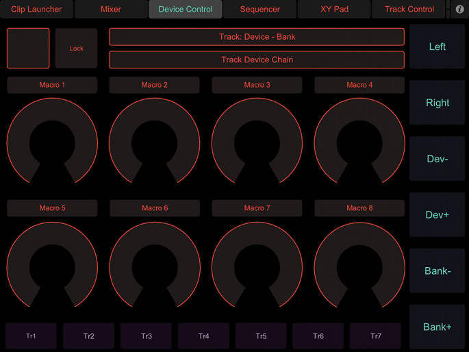 Ipad controllers review livecontrol touchosc shane berry for Touchosc templates ableton